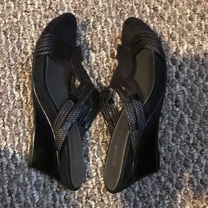 Black wedges, , size 7